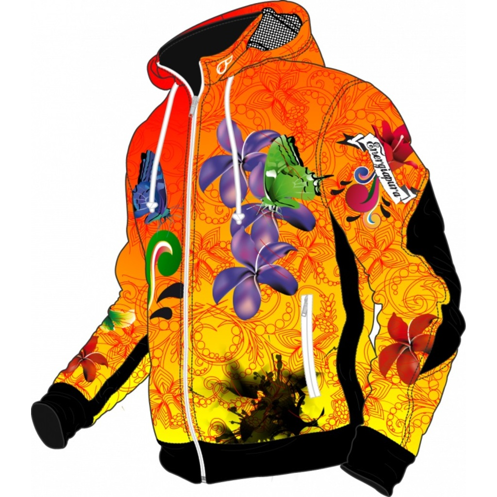 Energiapura Flowers Light Jacket W/Hood