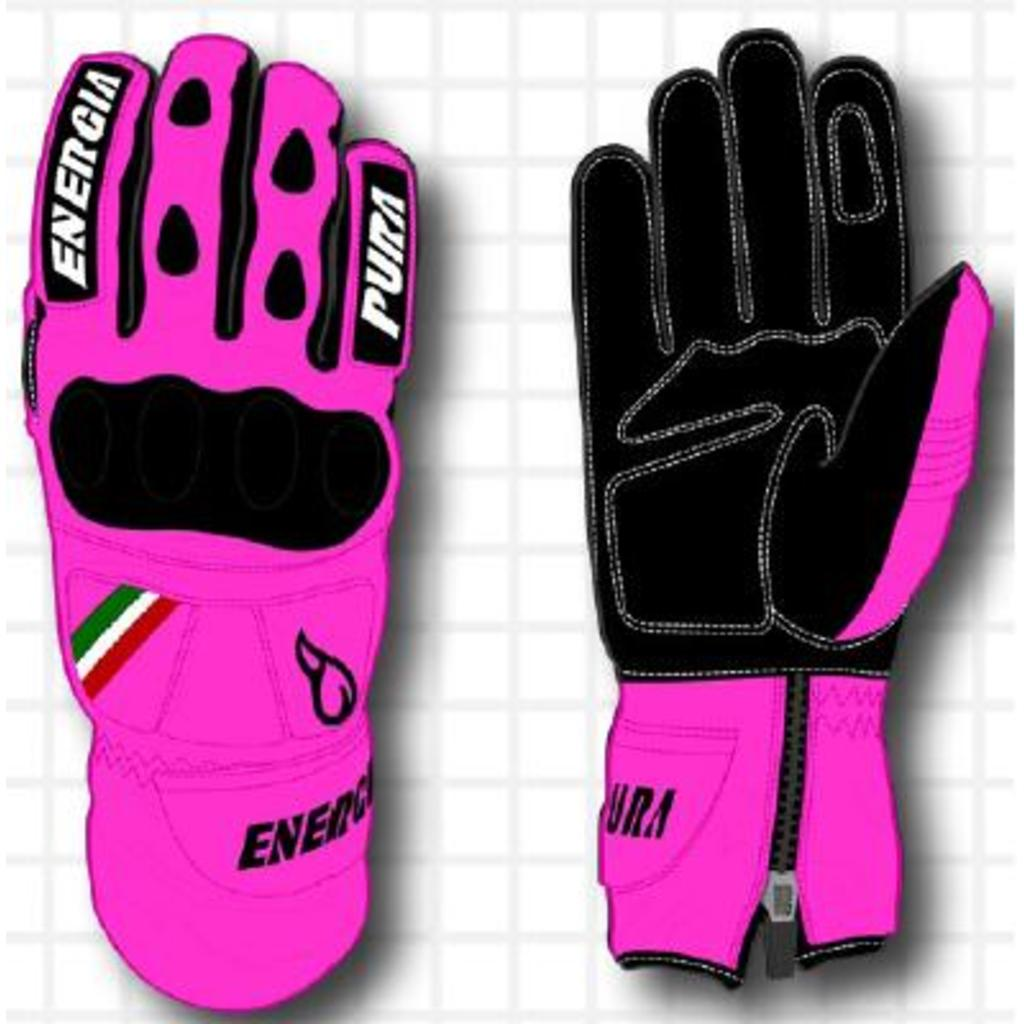 Energiapura Giant Slalom Fluo Leather Gloves W/Prot