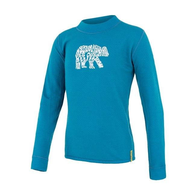 Sensor Merino DF Bear Kid's T-Shirt Long Sleeves