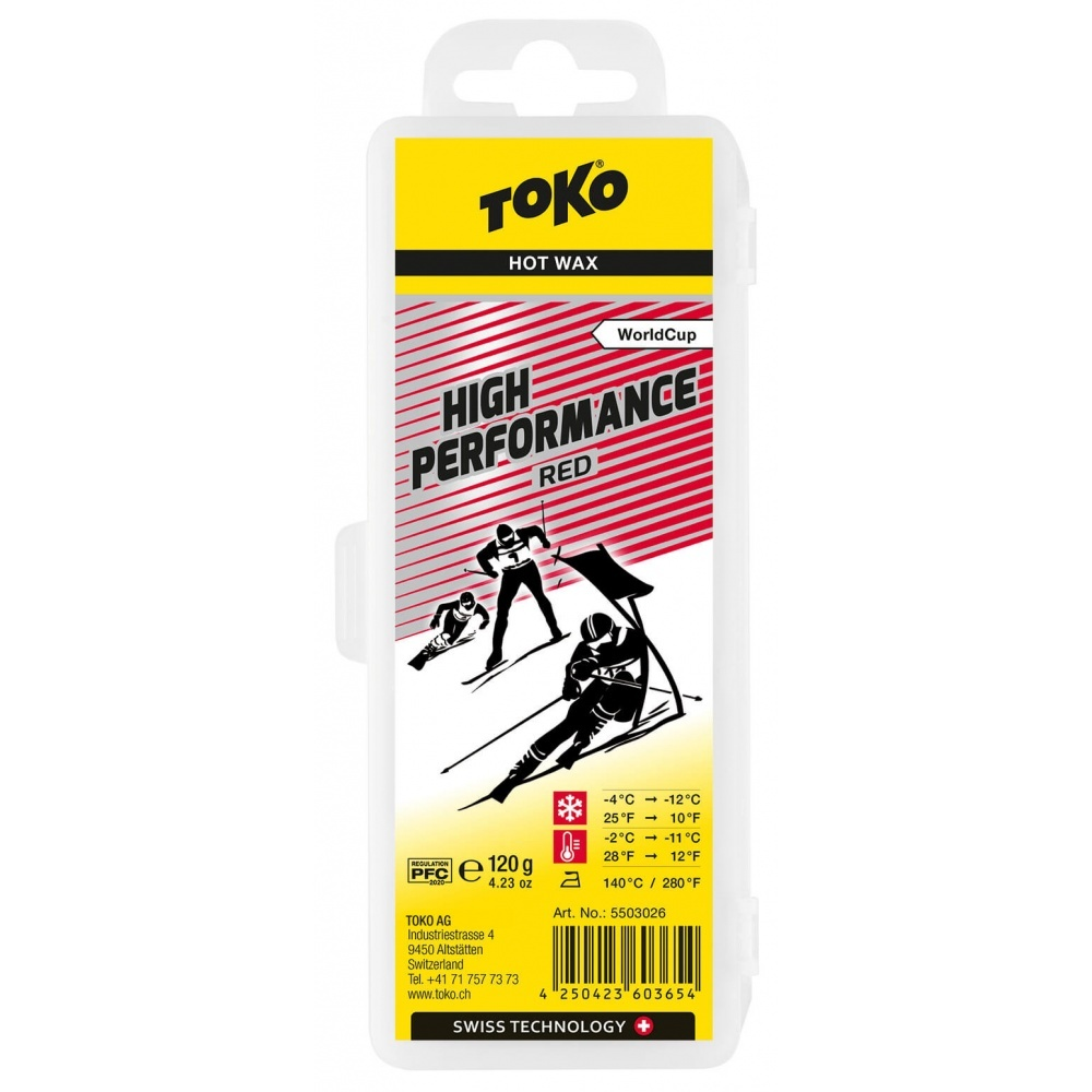 Toko High Performance Hot Wax red 120g